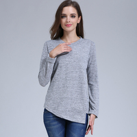 Emotion Moms Fashion Maternity Clothing long sleeve Maternity tops Nursing top Breastfeeding Clothes for Pregnant Women T-shirt