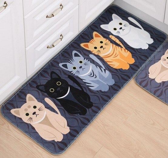 Adasmile New Lovely Cat Cartoon Memory Foam Mat Carpet Area Rugs Doormats For Kids Room Living Room Kitchen Bathroom Floor