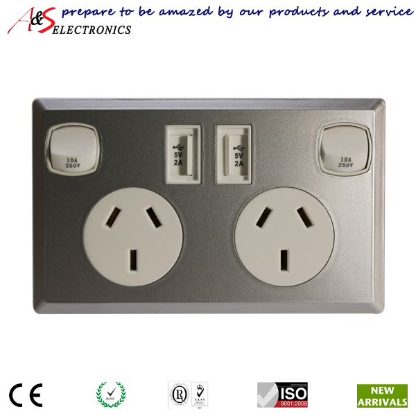 Australian and new zealand standard double gpo power socket 240v australian and new zealand standard double gpo power socket 240v with universal usb charger for mobile device iphone ipad tablet on aliexpress alibaba freerunsca Images