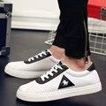 2017 nuevos mens Casual Zapatos de lona para los hombres con cordones de moda Transpirable verano otoño Pisos pu de Cuero de moda zapatos de gamuza