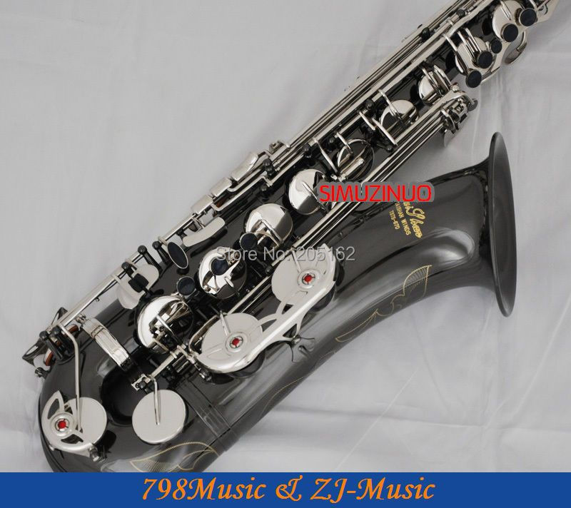 Professional New Black Silver Nickel Tenor Saxophone High F# With Case цена и фото
