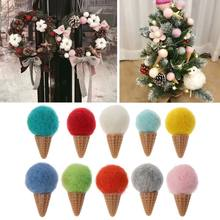 Handmade Mini Felt Ice Cream Props Tiny Baby Girls Boys Photo Shoot Newborn Photography Props Accessories Feb-15(China)