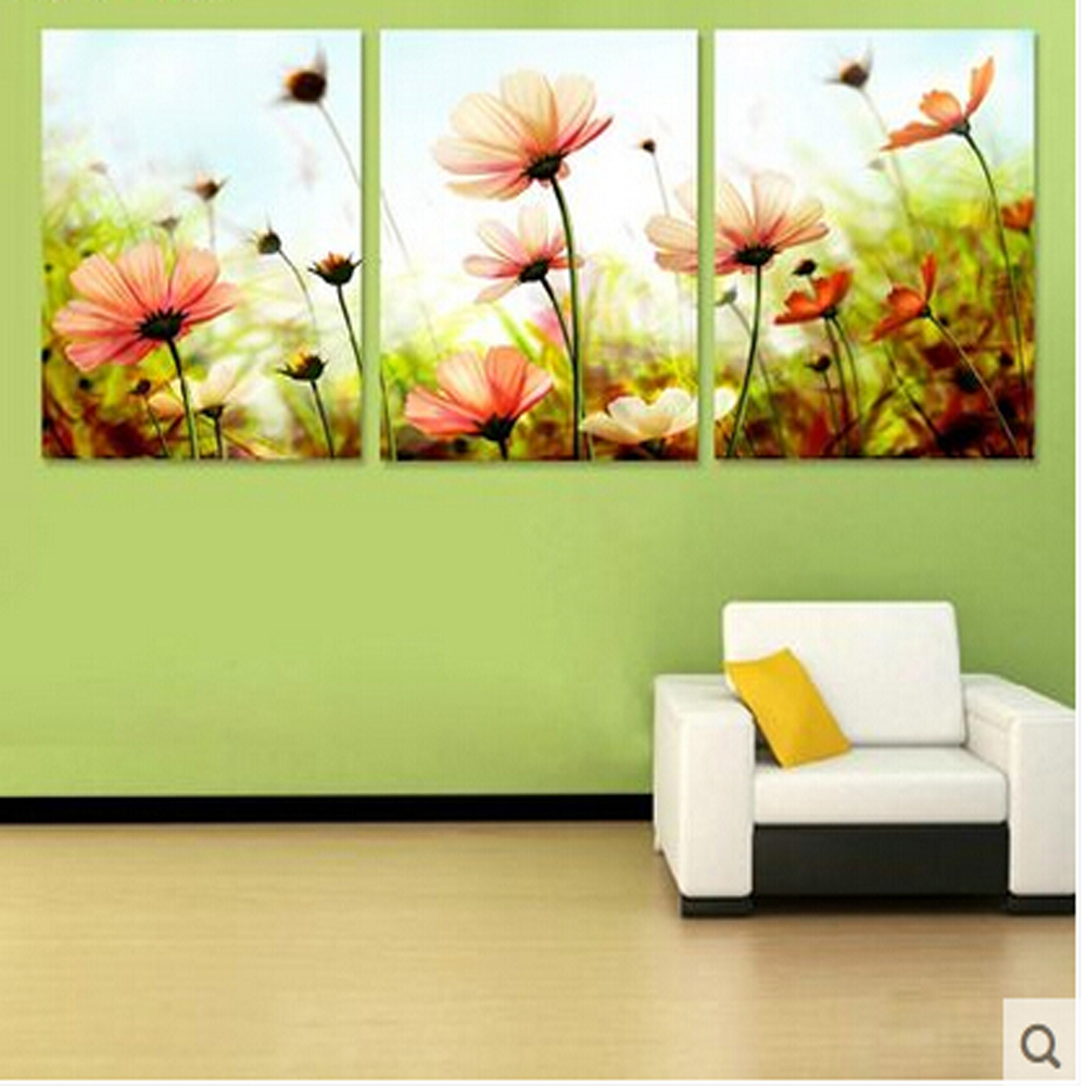 ᓂThree-picture Combination painting by numbers vintage home decor ...