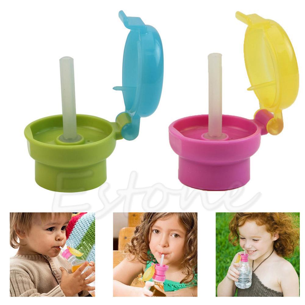 New 1Pc Kid Child Infant Toddler Feeding Drinking Straw Tube Bottle Cap