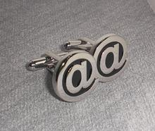 Free shipping  Metal black soft enamel male shirt sleeve button french nail sleeve