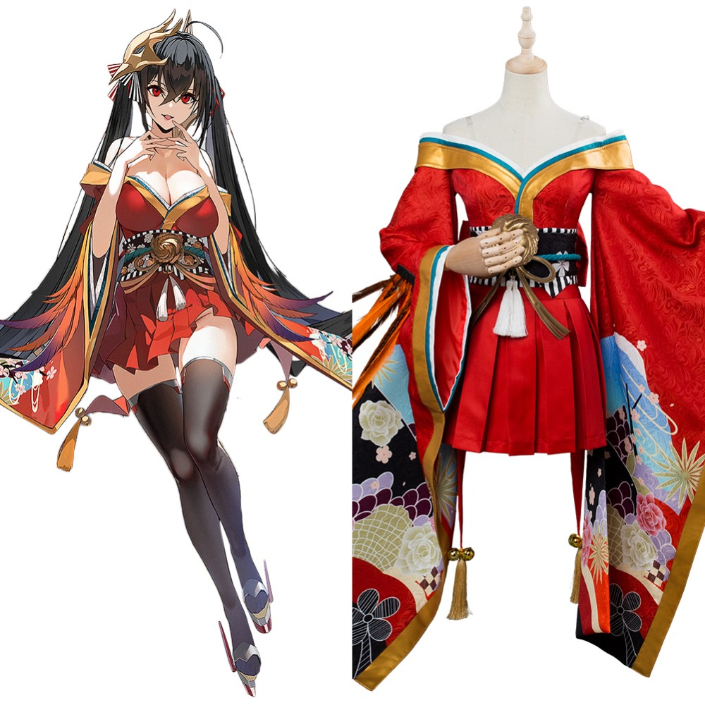 Azur Lane Sakura Cosplay Costume Dress Adult Women Girls Suit Halloween Carnival Costumes
