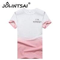 2017夏のファッションネクタイ染料メンズtシャツグラデーションプリントブランド服男の半袖tシャツプラスサイズ4xlトップスを·ティー