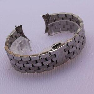 Image 5 - Yüksek Kaliteli Paslanmaz Çelik Kordonlu Saat Kavisli Son Gümüş Bilezik 16mm 18mm 20mm 22mm 24mm Katı bant marka Saatler erkekler yeni