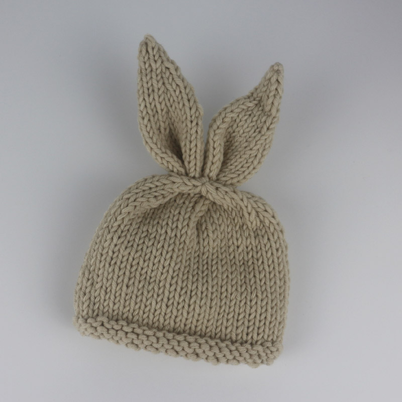517eda967 US $5.31 45% OFF|boy girls Baby hat Animal Cartoon style Bunny Rabbit  Costume Handmade Knit Baby Beanie diaper covered and Carrot Set GM032-in  Hats & ...