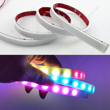 RGB RED Yellow White LEDS Car styling Led Strip Tail Turn Trunk Light Dynamic Flowing Warning DRL Luggage Compartment Lights