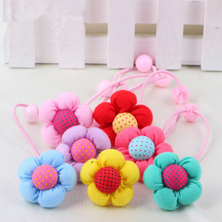 Brand 5pcs/bag Big Flowers Child Rubber Bands 2015 New Hair Holder Hair Elastic Accessories Girl Tie Gum 5 color mix жидкость besso vape fury gum new 30мл 0мг