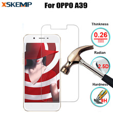 XSKEMP 2.5D Arc Edge Premium Tempered Glass For OPPO A39 No Fingerprint Screen Protector Film Explosion-proof Protective Guard