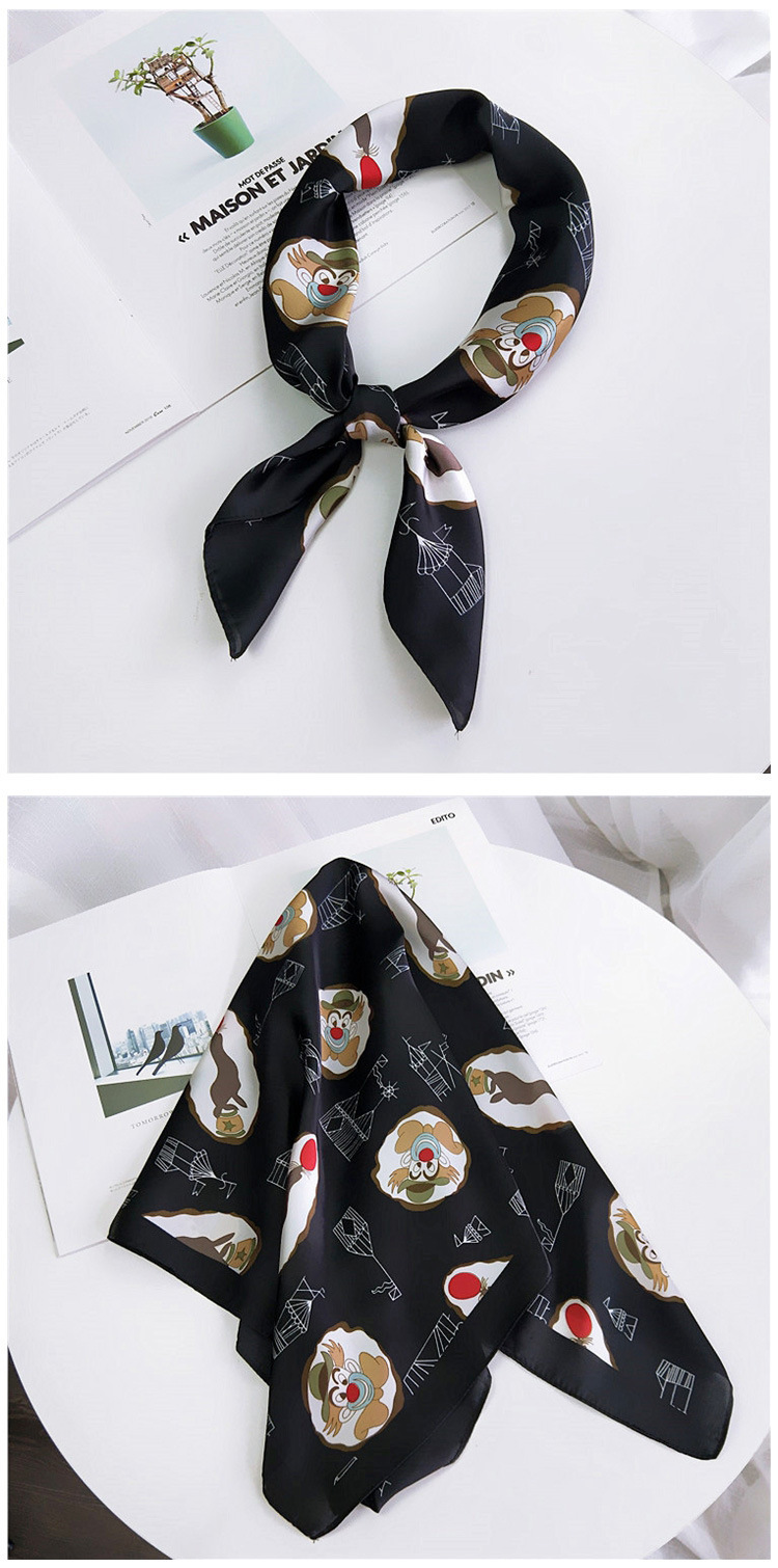 HTB1sL6KLwTqK1RjSZPhq6xfOFXag - 70*70cm Fashion Kerchief Cartoon Scarf For Women Animal Print Hair Scarf Female Square Neckerchief Cute Headband Scarves