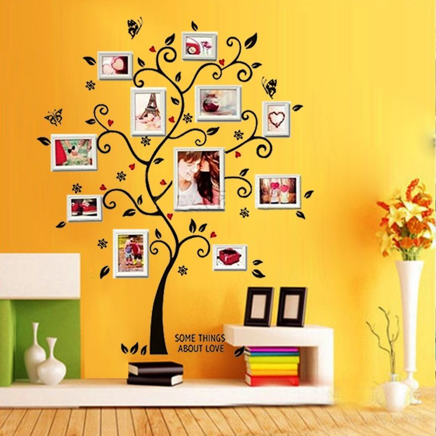 DIY Mural Forever Family Chic Photo Frame Tree Wall Sticker Room ...