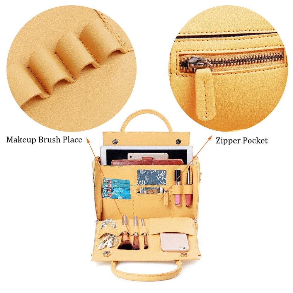 AEQUEEN Women Solid luxury Handbag Capacity Bag Multifunction Crossbody Bag Leather Shoulder Bag Feminine Bolsa Ladies Tote-in Shoulder Bags from Luggage & Bags    2