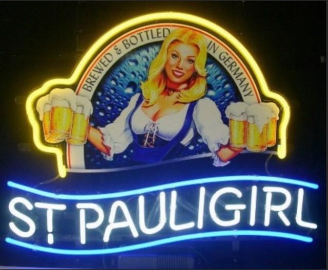 Custom St. Pauli Neon Light Sign Beer Bar