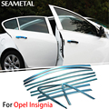 For Opel Insignia 2009 2010 2011 2012 2013 2014 2015 Car Full Window Trim Chrome Covers Chromium Styling Decoration Accessories
