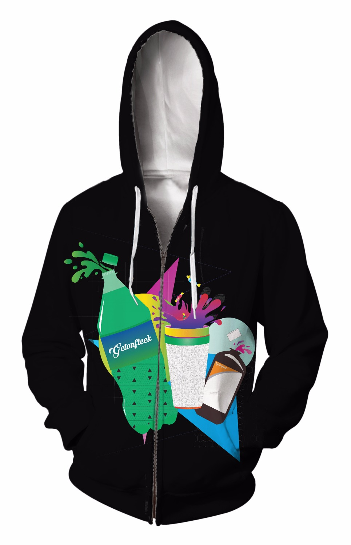 Zip-Up Hoodie 3d Print Soft Drink juice Clothing Women Men Tops Hooded Casual Zipper Sweatshirt Outfits Coats Sweat factory