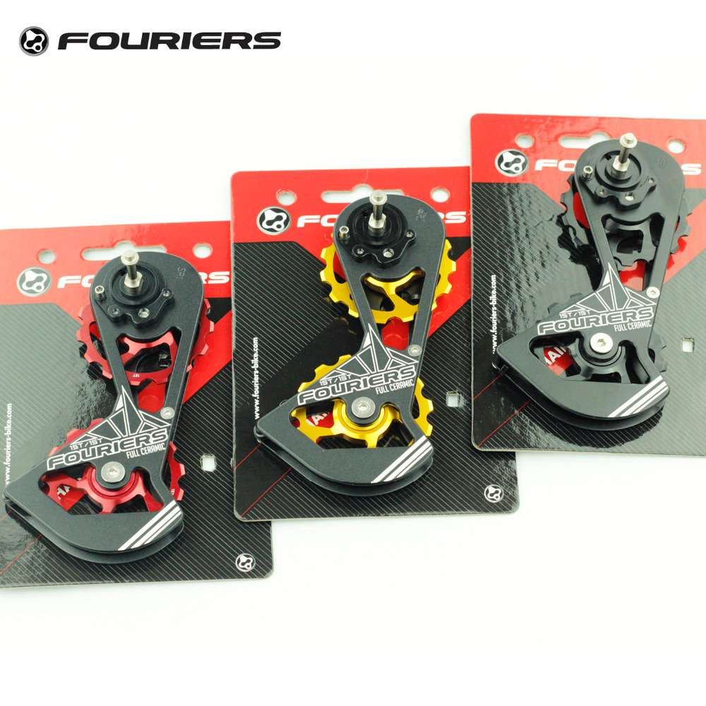 Fouriers Road Bike Rear Derailleur Full Ceramic Big Pulley Jockey Drivetrain Oversize 15T For RED FORCE RIVAL Bicycle Parts ztto 11t mtb bicycle rear derailleur jockey wheel ceramic bearing pulley al7075 cnc road bike guide roller idler 4mm 5mm 6mm