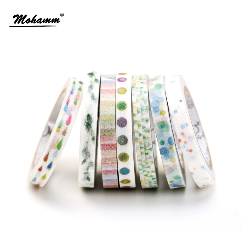 Creative Colorful Flower Plants Decorative Adhesive Tape Masking Washi Tape DIY Scrapbooking Sticker Label School Office Supply colorful gilding hot silver alice totoro decorative washi tape diy scrapbooking masking craft tape school office supply