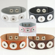 10pcs/lot Economical snaps leather bracelets fit snaps fit 18/20MM snaps buttons bracelet KB0001