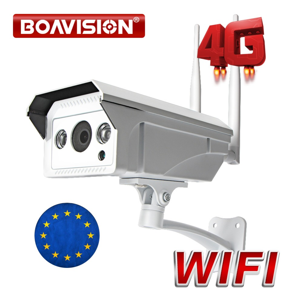 HD 1080P 3G 4G SIM Card WIFI Camera CCTV Outdoor Bullet Security Camera Support Max 128G Micro TF Card Storage IR 20M P2P ViewHD 1080P 3G 4G SIM Card WIFI Camera CCTV Outdoor Bullet Security Camera Support Max 128G Micro TF Card Storage IR 20M P2P View