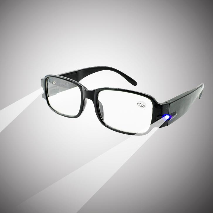 Fashion Style Design Glasses!!! Unisex Multifunction LED Reading Glasses Presbyopia Presbyopic Lighted Magnifying Head Lamp