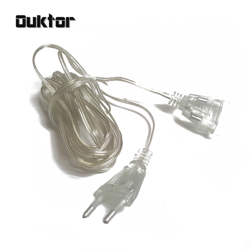 3 5m extender wire extension cable eu plug for led string. Black Bedroom Furniture Sets. Home Design Ideas