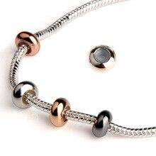 10 шт./лот круглые бусины-пробки в европейском стиле с резиновым кольцом для европейских браслетов