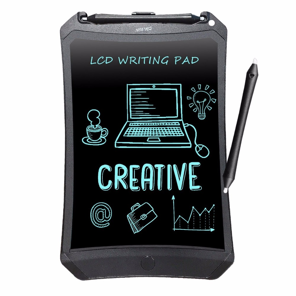 NEWYES 8.5″ Chrismas Kids Gifts Lovely Black Robot Pad eWriter Electronic Kids Drawing Board Doodle Pad LCD Writing Tablets