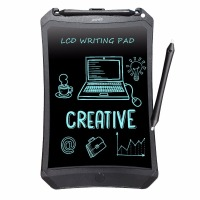 NEWYES 8 5 Chrismas Kids Gifts Lovely Black Robot Pad EWriter Electronic Kids Drawing Board Doodle