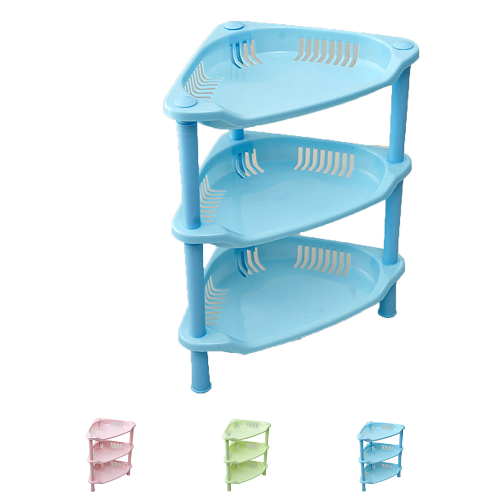 Three Layers Plastic Kitchen Bathroom Shelf Storage Racks Holder Soap Cosmetics Organizer DIY цены