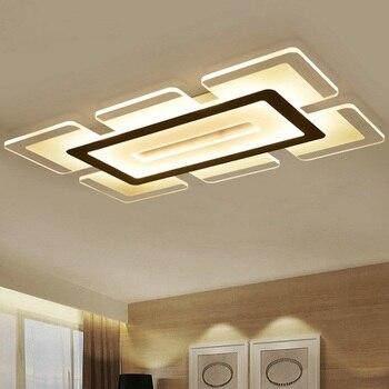 Modern LED Ceiling Light Rectangular and Square Living Room Light Acrylic Creative Bedroom Ceiling lamp AC110-240V