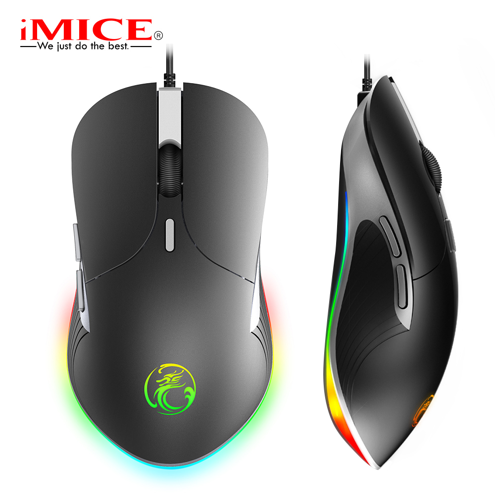 imice X6 High configuration USB Wired Gaming Mouse Computer Gamer 6400 DPI Optical Mice for Laptop PC Game Mouse upgrade X7 image