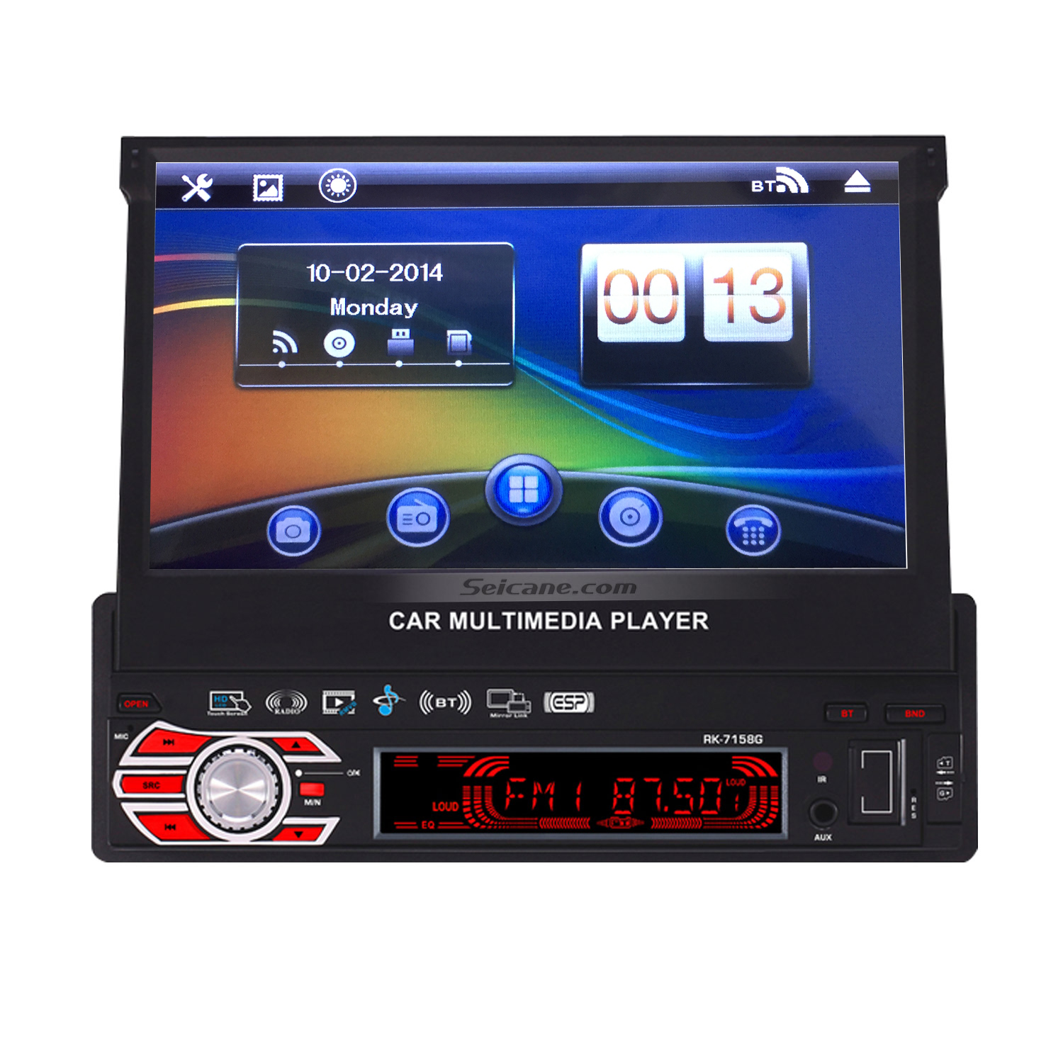 seicane 7 39 39 wince 6 0 1 din car audio dvd player radio gps. Black Bedroom Furniture Sets. Home Design Ideas