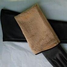 WOWTIGER Gloves Autumn Winter Keep Warm Winter Long Gloves PU Wool cloth with soft nap women luva gloves for women
