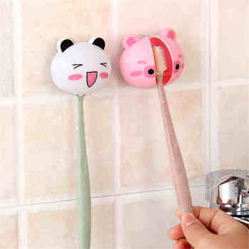 Cute Cartoon suction cup toothbrush holder