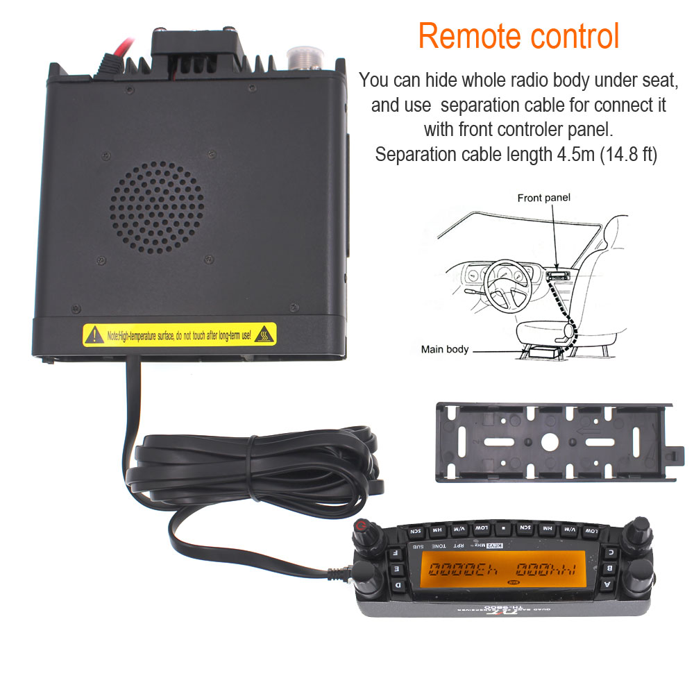 Image 5 - 1901A TYT TH9800 TH 9800 Mobile Transceiver Automotive Radio Station 50W Repeater Scrambler Quad Band V/UHF Car Truck Radio-in Walkie Talkie from Cellphones & Telecommunications