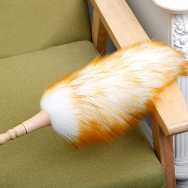 Soft Efficient Wool Dust Brush Household Duster Dust Cleaning Brush Dust Cleaner For Furniture Car Bookshelves Window Cleaning