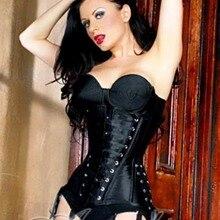 286039f69e Long Black Gothic Tight Lacing Waist Slimming Underbust Corset Half-Bust  Full Body Corsets(