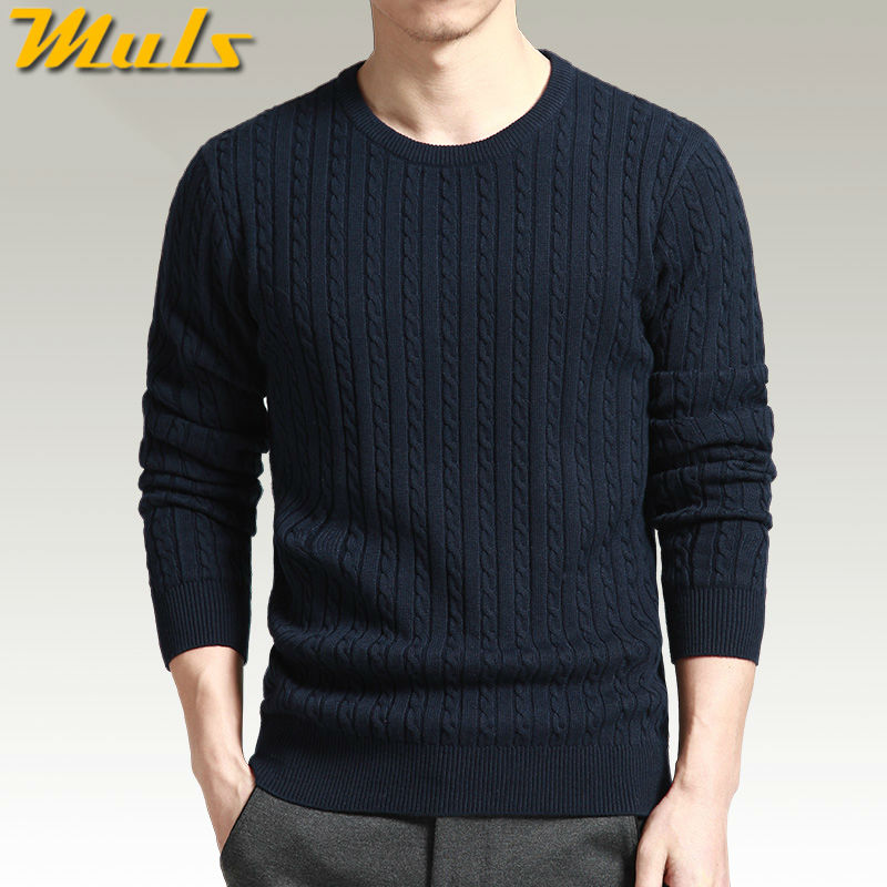 3 Colors thread sweater pullover men cotton spandex knit O neck long sleeve jumper men pullover large size 3XL 4XL Brand MS16017
