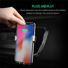 ROCK Wireless Charging Gravity Car Mount for iPhone X 8 8Plus Samsung Galaxy S8 S7 Note 8