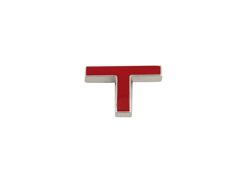Авто хром красный T для 1,5 T 1,8 T 2,0 T 2,8 T наклейка на задний багажник