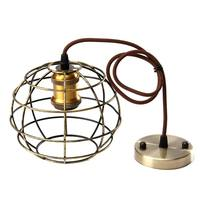 New Edison Iron Vintage Ancient Hanging Ceiling Lamp Bulb Light Fitting Guard Wire Cage Cafe Lampshade