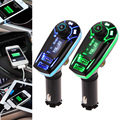 Brand New Car Auto 2 in 1 Wireless Bluetooth FM Transmitter MP3 Player Hands Free Calls Car Kit USB Car Charger Free Shipping