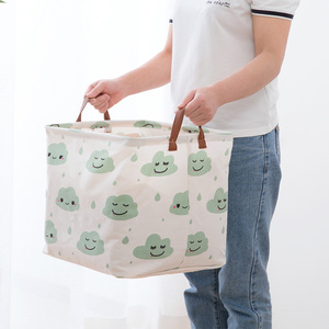cube folding Laundry Basket Clothing Storage Basket Storage Barrels for kids toy organizer bag gift box storage bins Container(China)