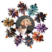 Аксессуары для домашних животных, 30 шт., регулируемый галстук бабочка для питомца на Хэллоуин, праздник для питомца, ошейник для щенка, бабочка для кошек и собак