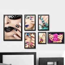 Grohandel nail art posters gallery billig kaufen nail art xdr025 moderne mode schnheit kunst leinwand malerei poster wandkunst bilder fr schnheit make up nagel prinsesfo Image collections