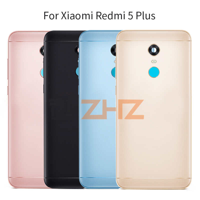Original For Xiaomi Redmi 5 Plus Battery Back Cover Redmi 5Plus Rear Door Housing + Side Key Card Tray Holder+tools Repair Parts