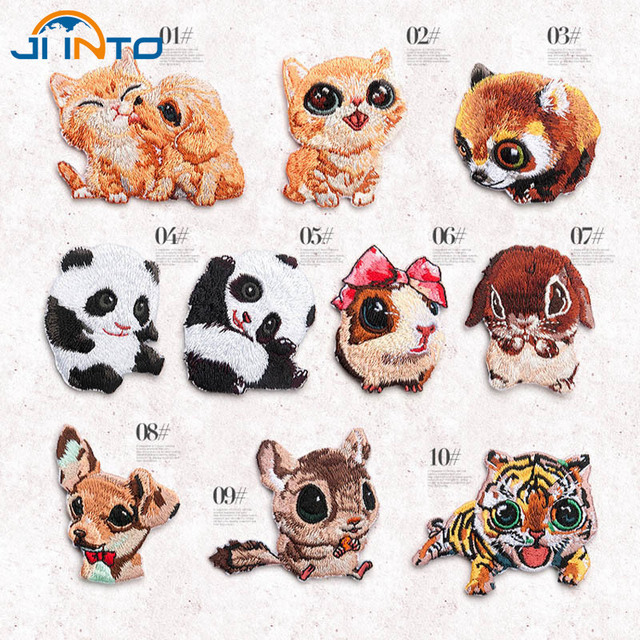 10 Tipo historieta Animal Tigre bordado gato del remiendo en los ...